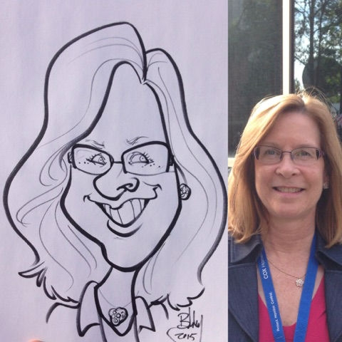 Robert Turner Party Caricature