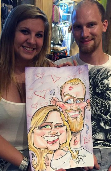 Anthony Schmidt Party Caricature