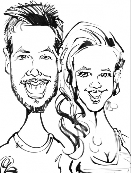 Walt Griggs Party Caricature