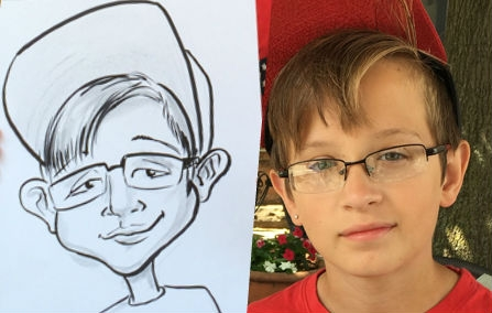 Casey Christenson Party Caricature