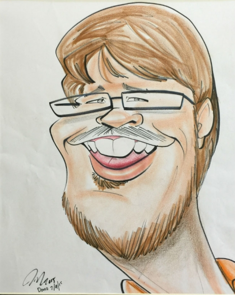 Jeffrey Muniz Party Caricature
