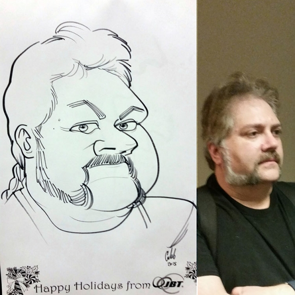 Caleb Hitchcock Party Caricature