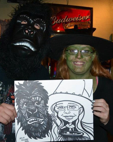 Erica Golter Party Caricature