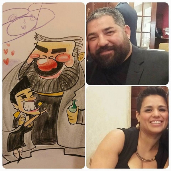 Justin Smith Party Caricature