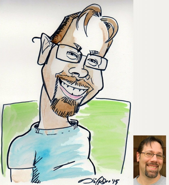 Jerry Shippee Party Caricature
