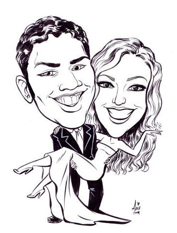 Arie Monroe Party Caricature