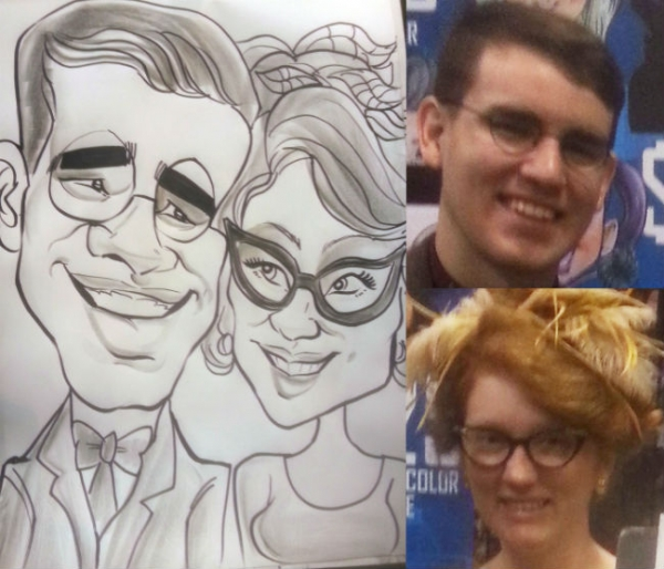 David Reyes Party Caricature