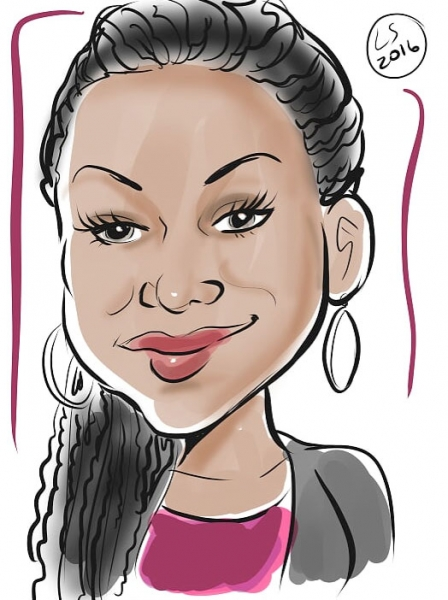 Laura Schoppa Digital Party Caricature