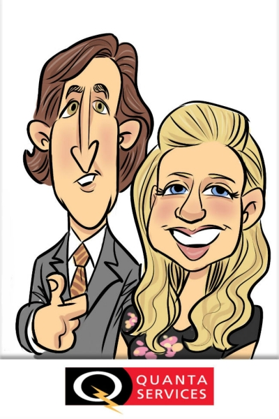 Dan McMahan Digital Party Caricature