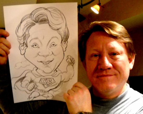 James Batts Party Caricature