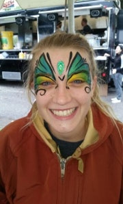 face painting by Cindy Pollard