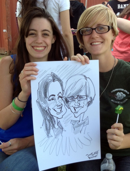 Matt Schmidt Party Caricature
