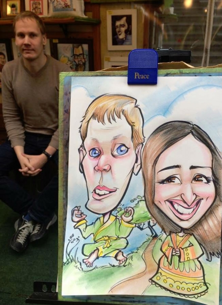 Tom Ryan Party Caricature