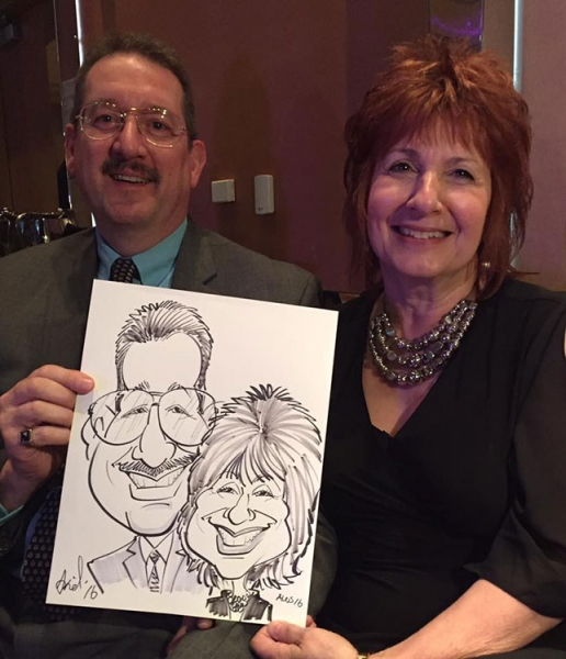 Ariel Echevarria Party Caricature