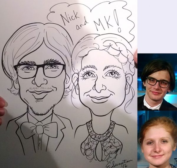 Eileen Sunstrom Party Caricature