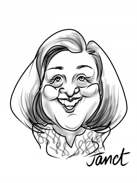 Heather Joy Thomas Digital Party Caricature