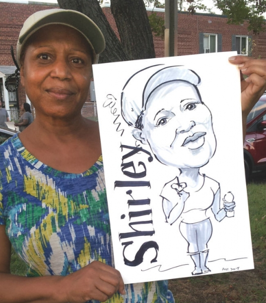 Mindy Mitchell Party Caricature