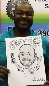Michael White Party Caricature
