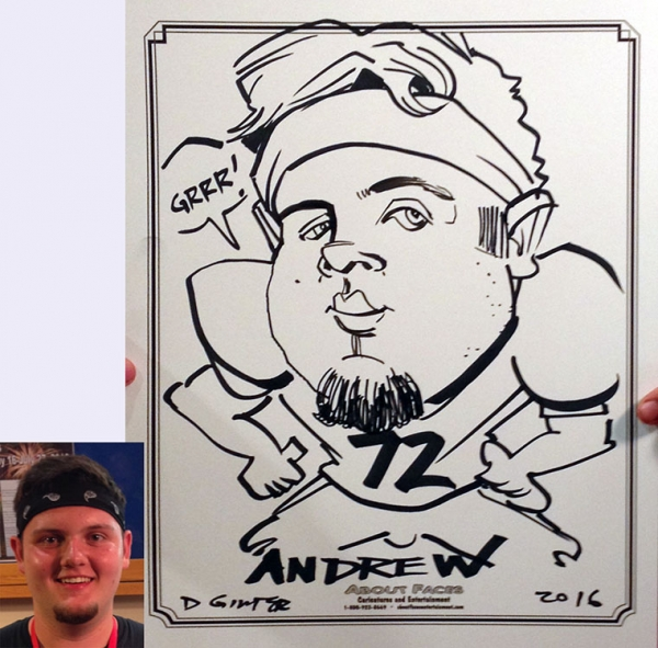Dan Ginter Party Caricature