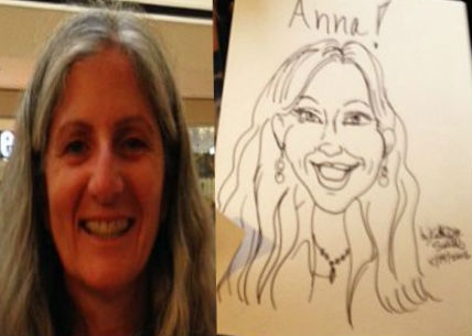Kathy Dee Saville Party Caricature