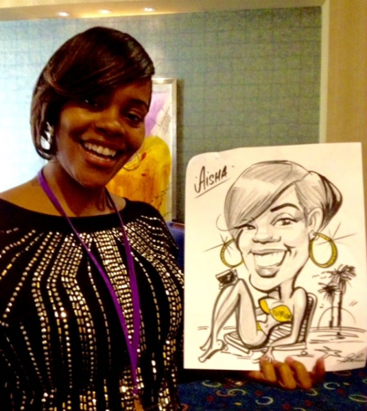 Lori Louise Lee Party Caricature