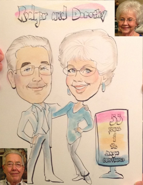 Barbara Thornton Party Caricature