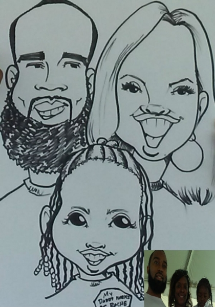 Darrin Patterson Party Caricature