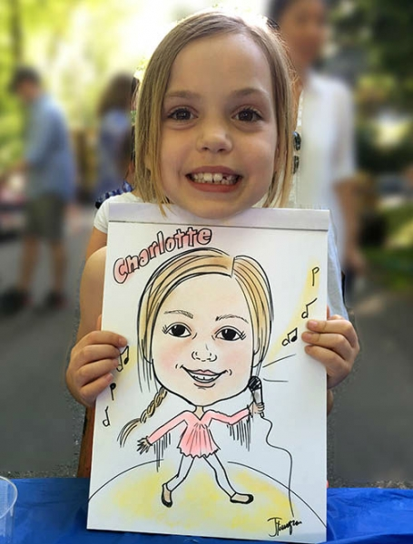 Judy Tourangeau Party Caricature