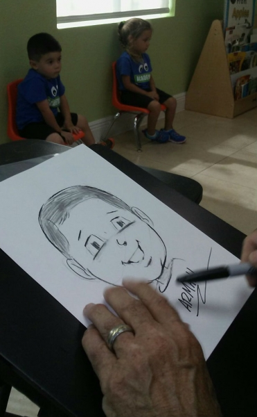 Gus St Anthony Party Caricature