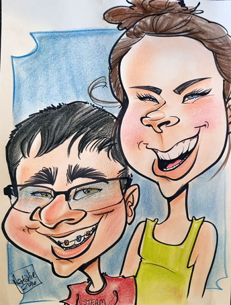 Natalie Yeckley Party Caricature