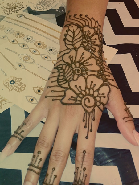 henna art by Farrah Godfrey