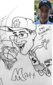Kerry Johnson Party Caricature