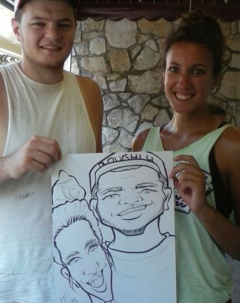 Vince Puzzo Party Caricature