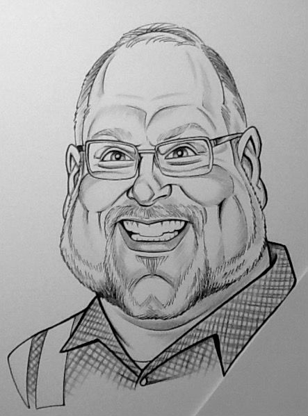 Larry Weber Party Caricature
