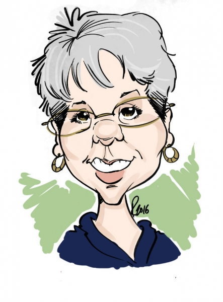 Brad Rosier Digital Party Caricature