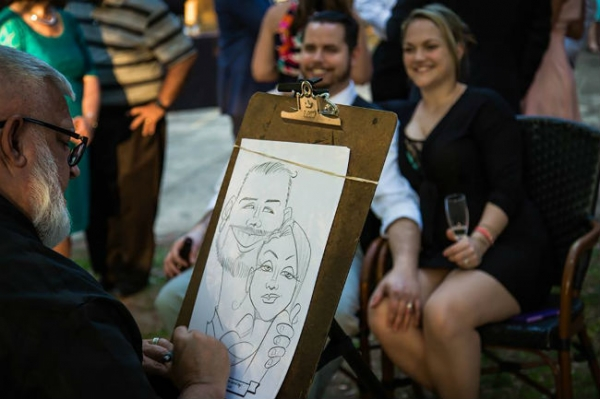 Wade Collins Party Caricature