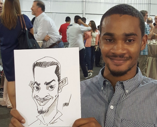 Arash Salehe Party Caricature