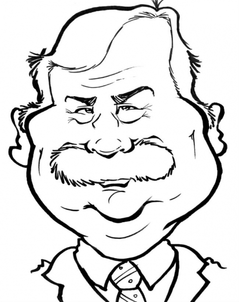 Brad Rosier Party Caricature