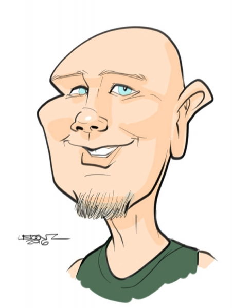 Liston Morris Digital Party Caricature