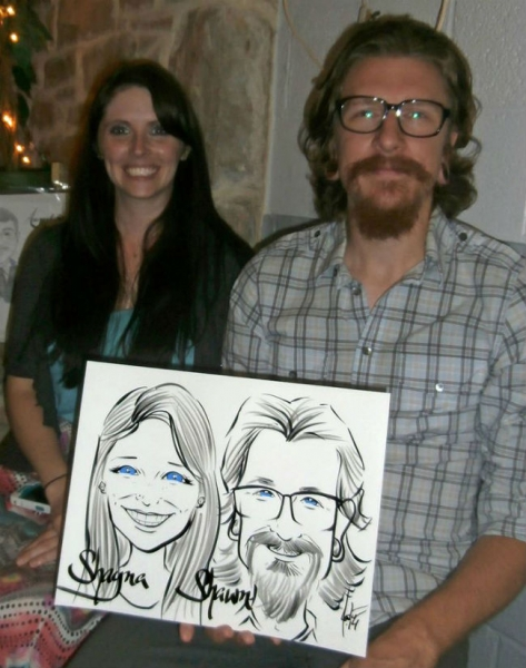 Dan Foster Party Caricature