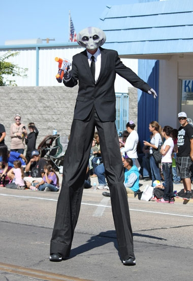 stilt walker Chris Green