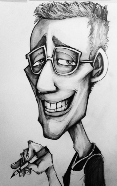 Michael Sliva Party Caricature