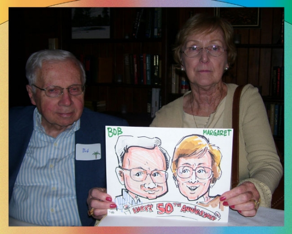 Richard Powell Party Caricature
