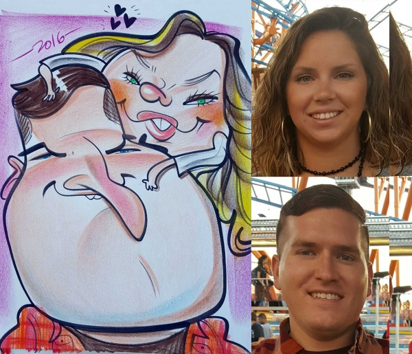 Kirby Rudolph Party Caricature