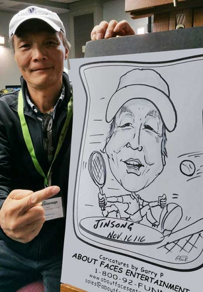Garry Peck Party Caricature