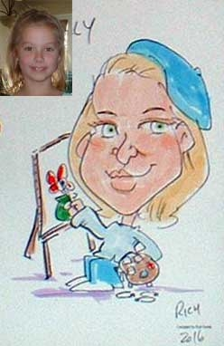 Rich Nowak Party Caricature