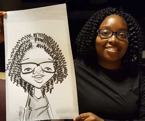 Chris Grant Party Caricature
