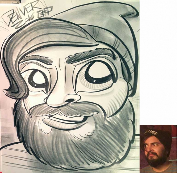 Kyle Therrien Party Caricature