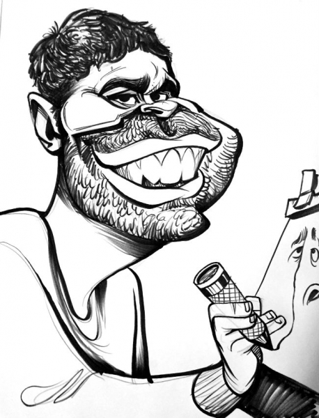 Tyler Fontes Party Caricature