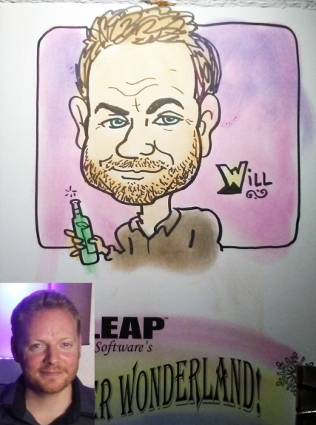 Ken Negran Party Caricature